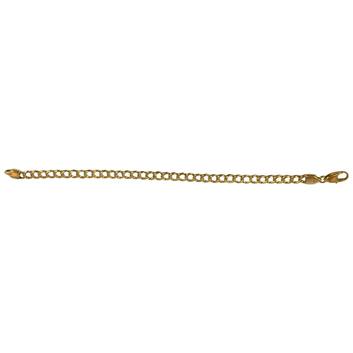 Non Signe / Unsigned Gourmette Armband in  Gold Gelbgold