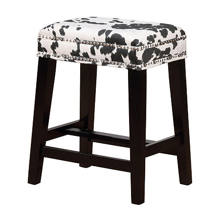 Walt Nailhead Trim Upholstered Counter Stool, One Size , Black