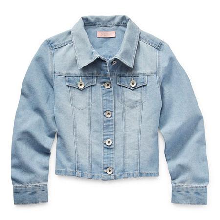 Blue Spice Big Girls Denim Jacket, 8 , Blue