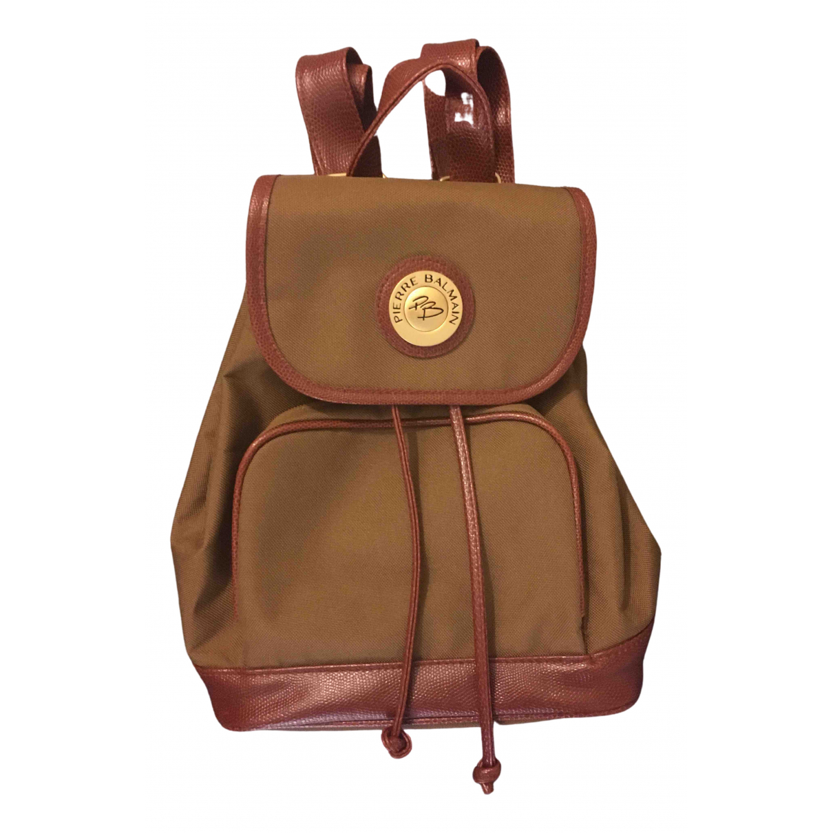 Pierre Balmain \N Brown Cloth backpack for Women \N