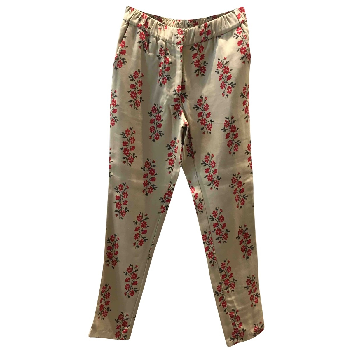 Attic And Barn \N Beige Trousers for Women 38 IT