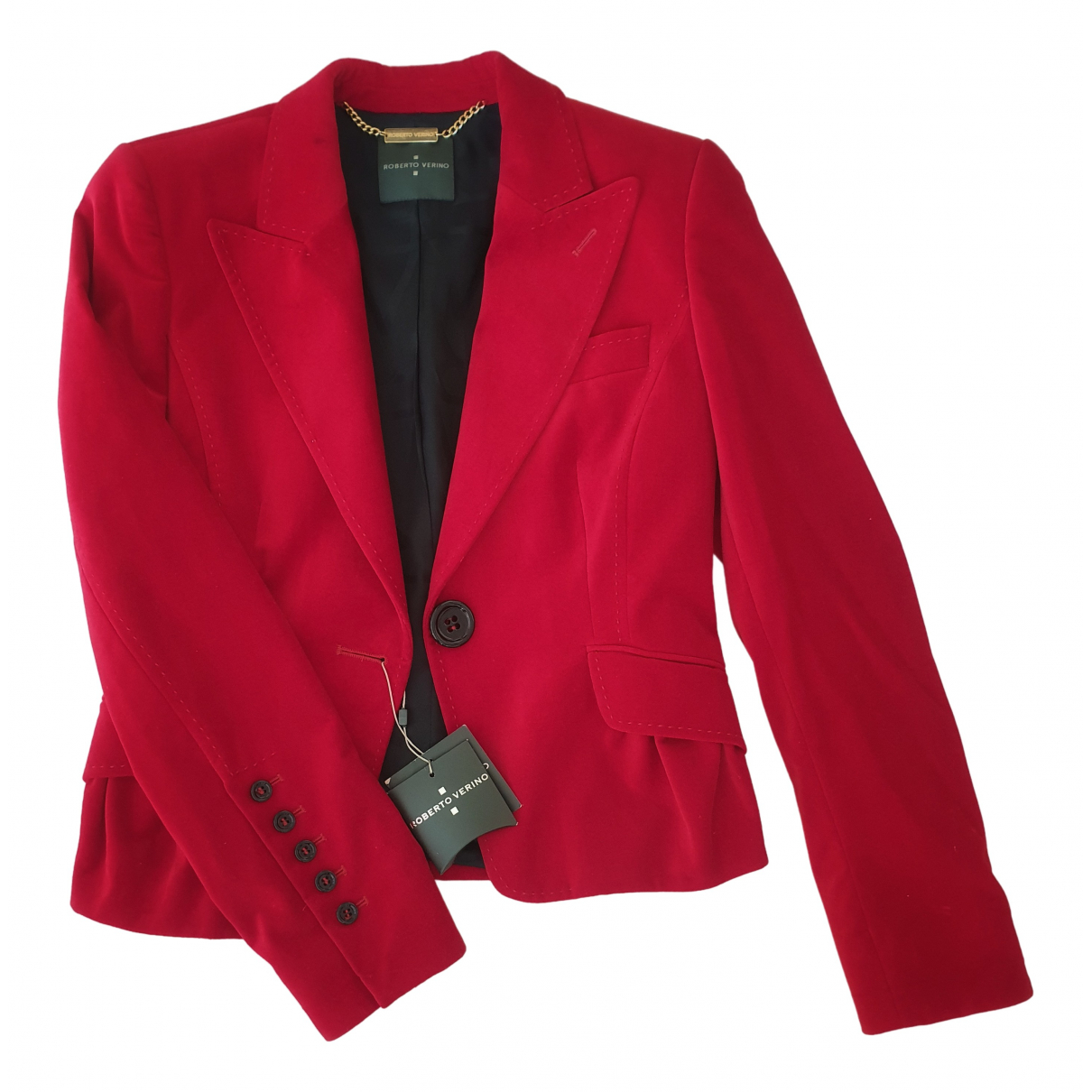 Non Signé / Unsigned \N Red Velvet jacket for Women 40 FR