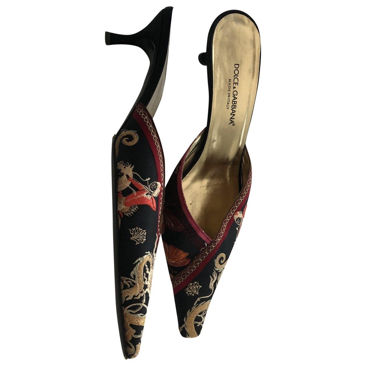 Dolce & Gabbana \N Multicolour Cloth Mules & Clogs for Women 39 EU