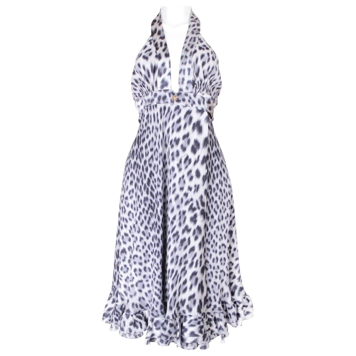Roberto Cavalli \N Kleid in  Grau Seide