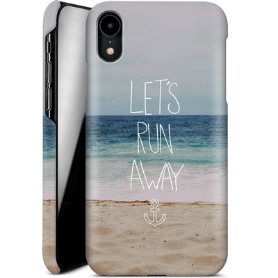 Apple iPhone XR Smartphone Huelle - Lets Run Away - Sandy Beach von Leah Flores