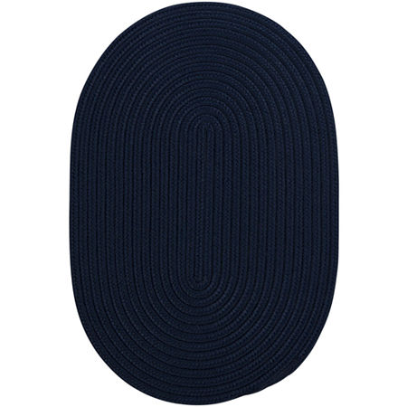 Colonial Mills Nantucket Reversible Braided Indoor/Outdoor Oval Rug, One Size , Blue