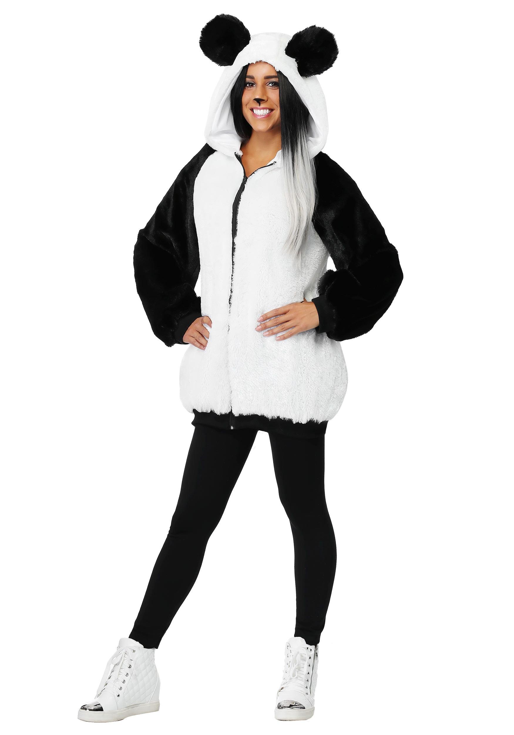 Women's Panda Hooded Costume Jacket