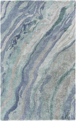 Gemini GMN-4039 5' x 8' Rectangle Modern Rug in Sea Foam  Teal  Emerald  Pale Blue  Medium