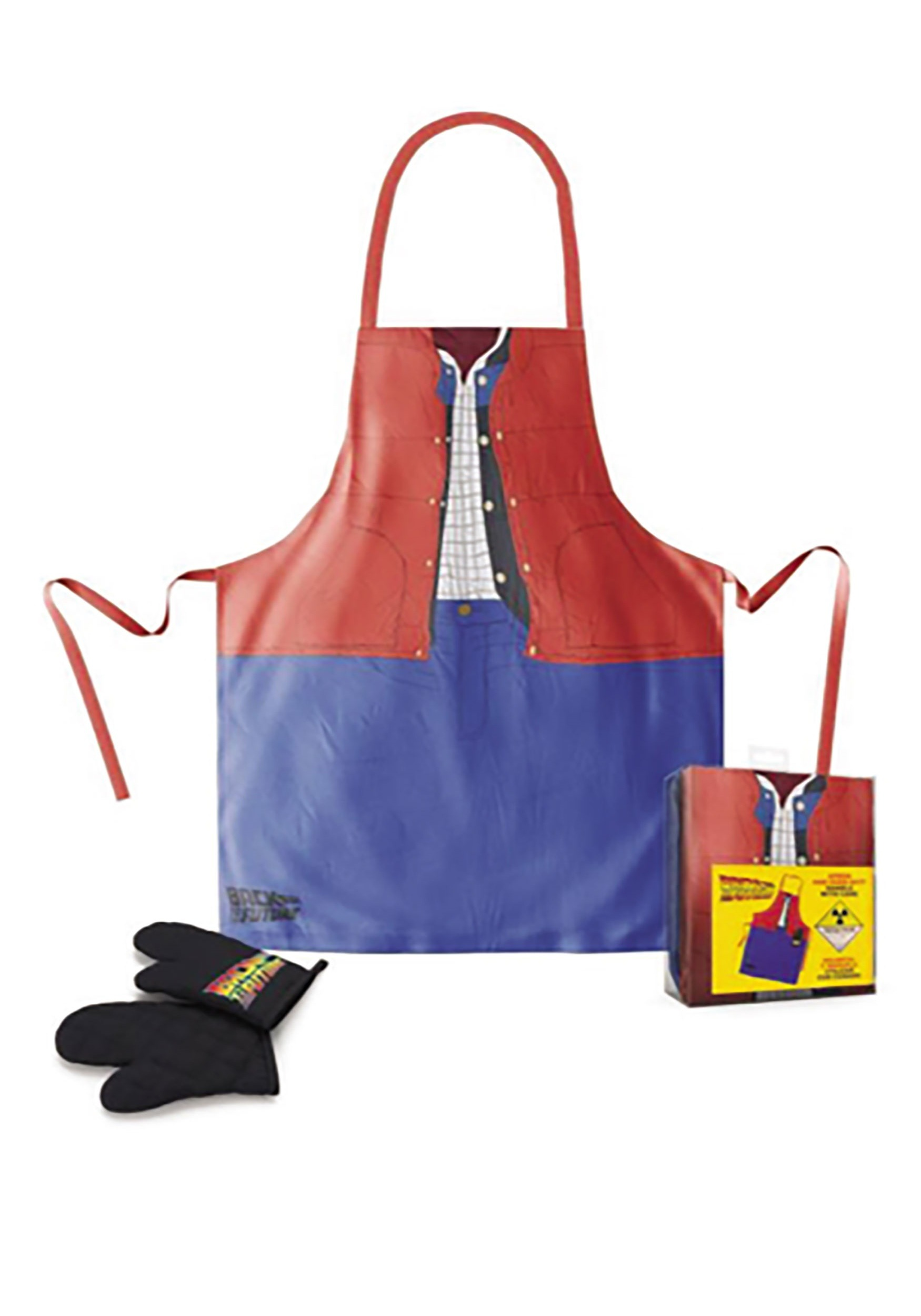 Back to the Future Movie Marty McFly Apron & Oven Mitt Set
