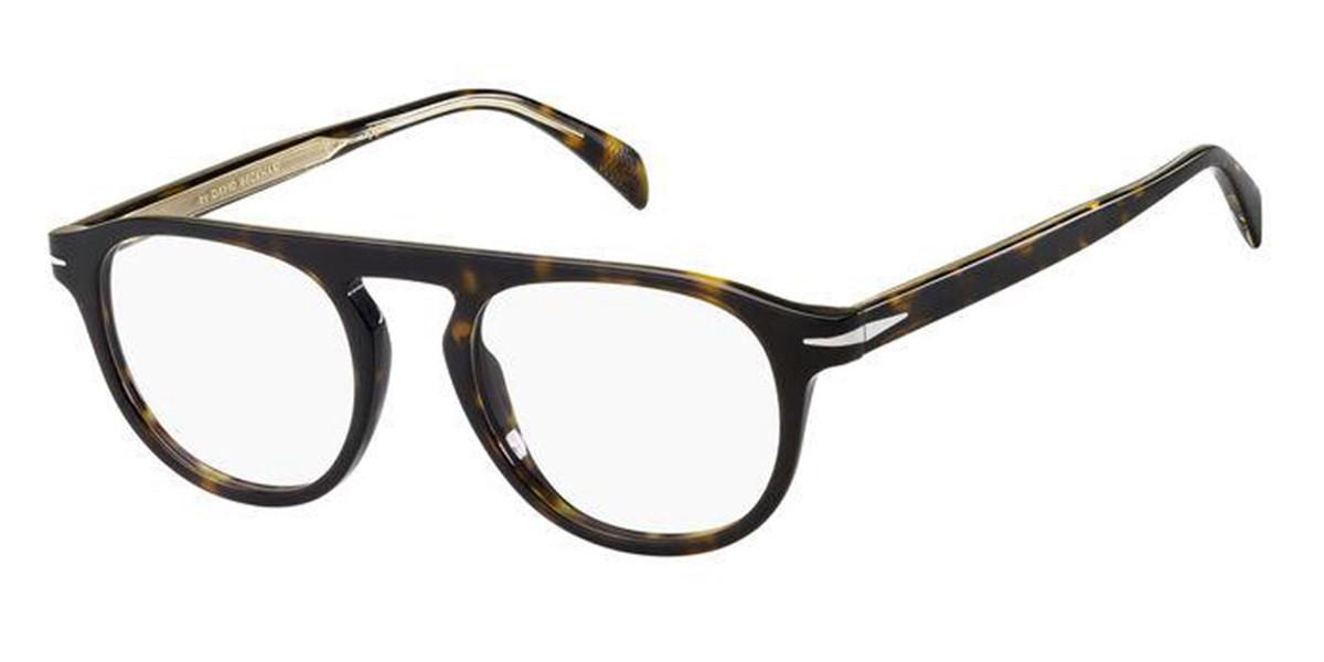 David Beckham DB 7024 086 Men's Glasses Tortoise Size 49 - Free Lenses - HSA/FSA Insurance - Blue Light Block Available