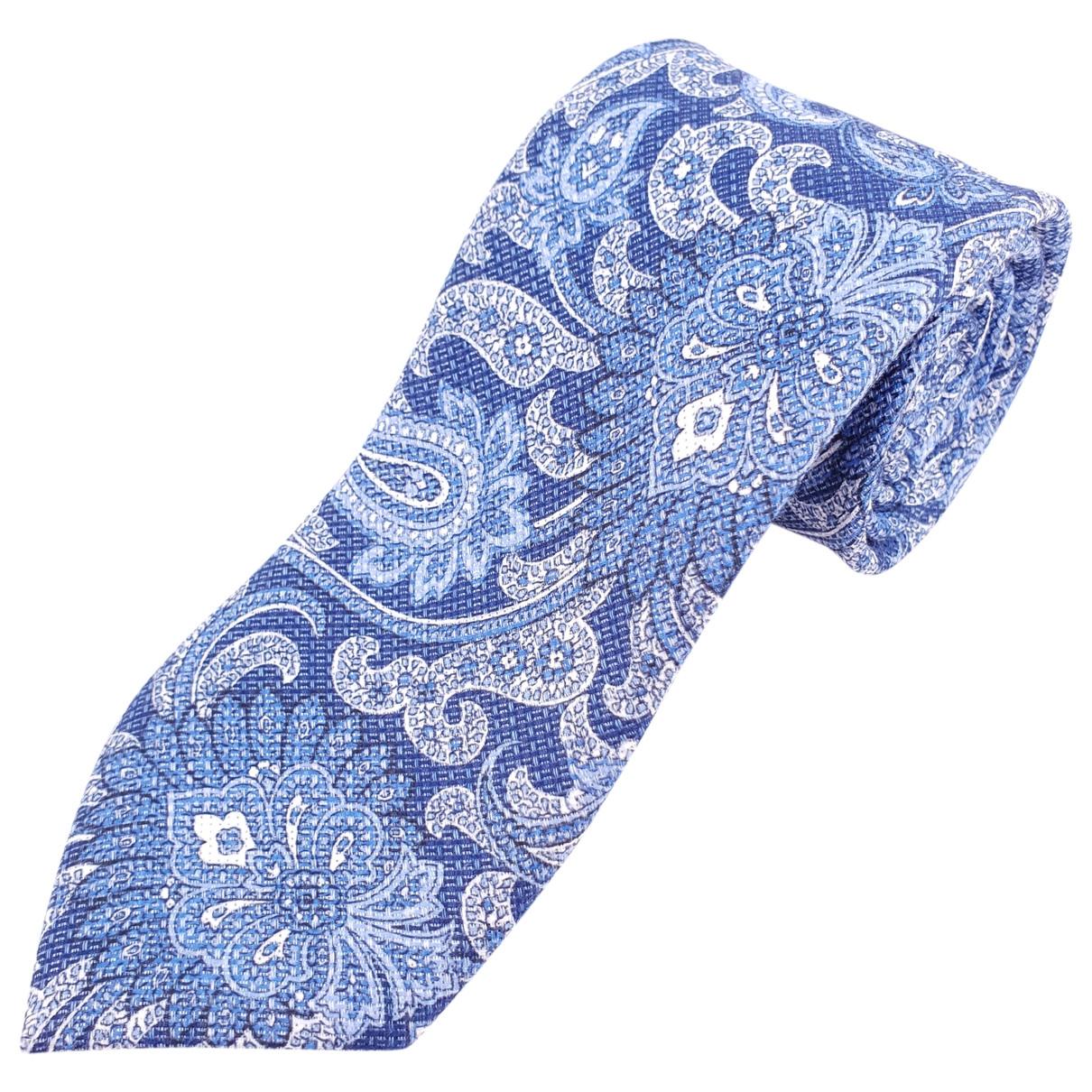 Breuer - Cravates   pour homme en soie - bleu