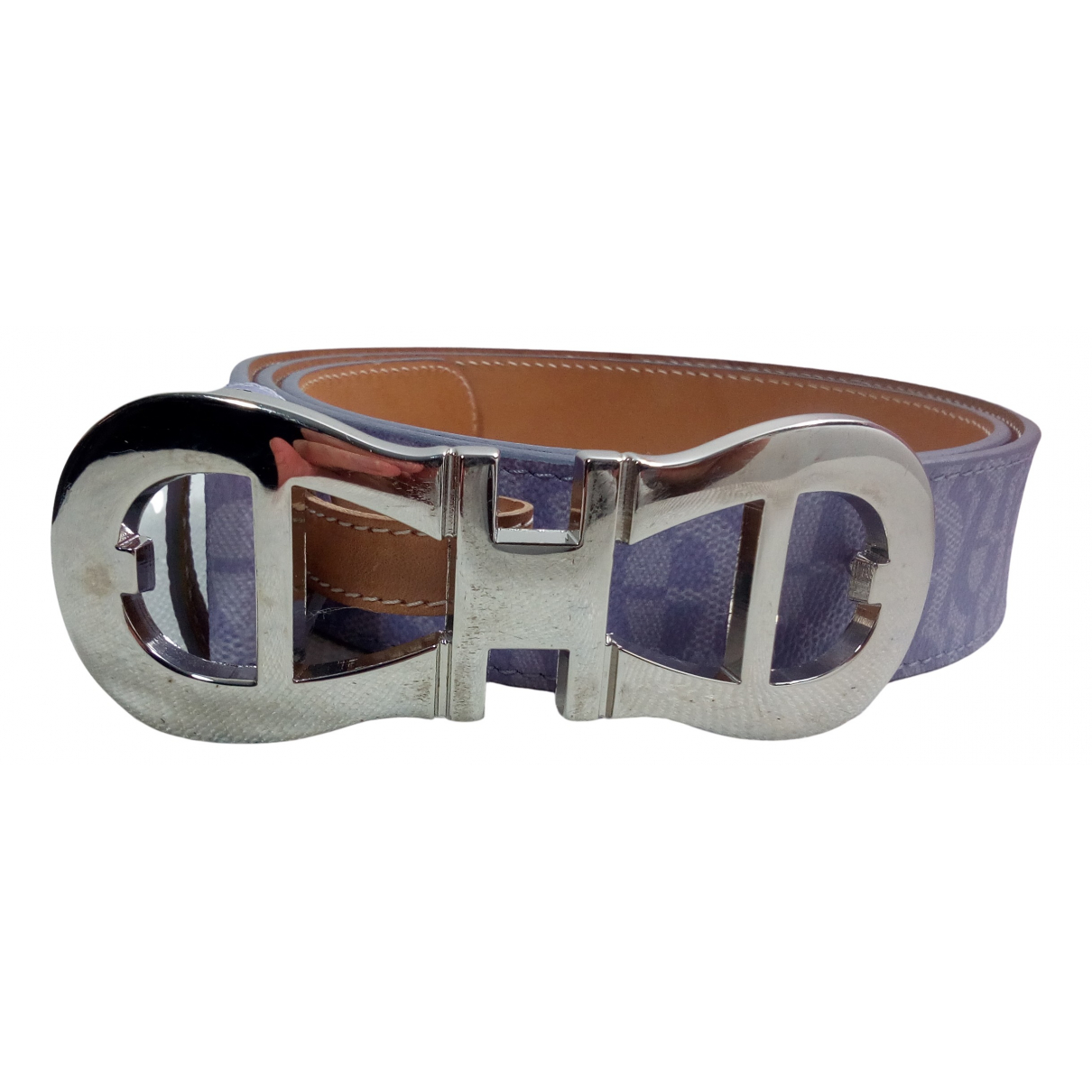 Aigner N Purple Leather belt for Women 90 cm