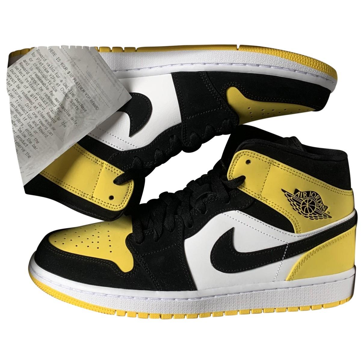 Jordan - Baskets Air Jordan 1  pour homme en cuir - jaune