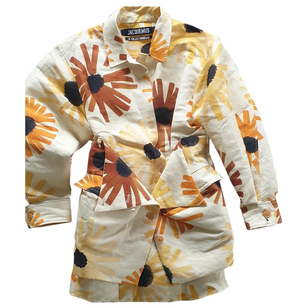 Jacquemus - Robe   pour femme en lin - multicolore
