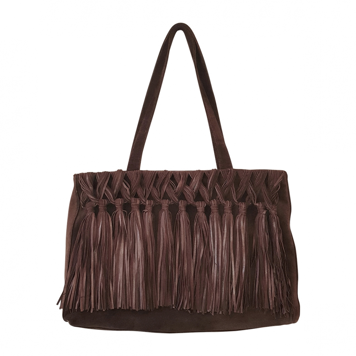 Genny \N Brown Suede handbag for Women \N