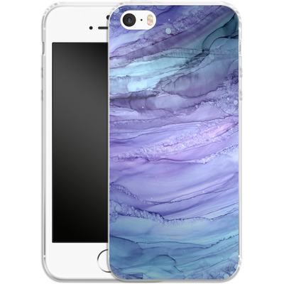 Apple iPhone SE Silikon Handyhuelle - Mermaid Marble von Becky Starsmore