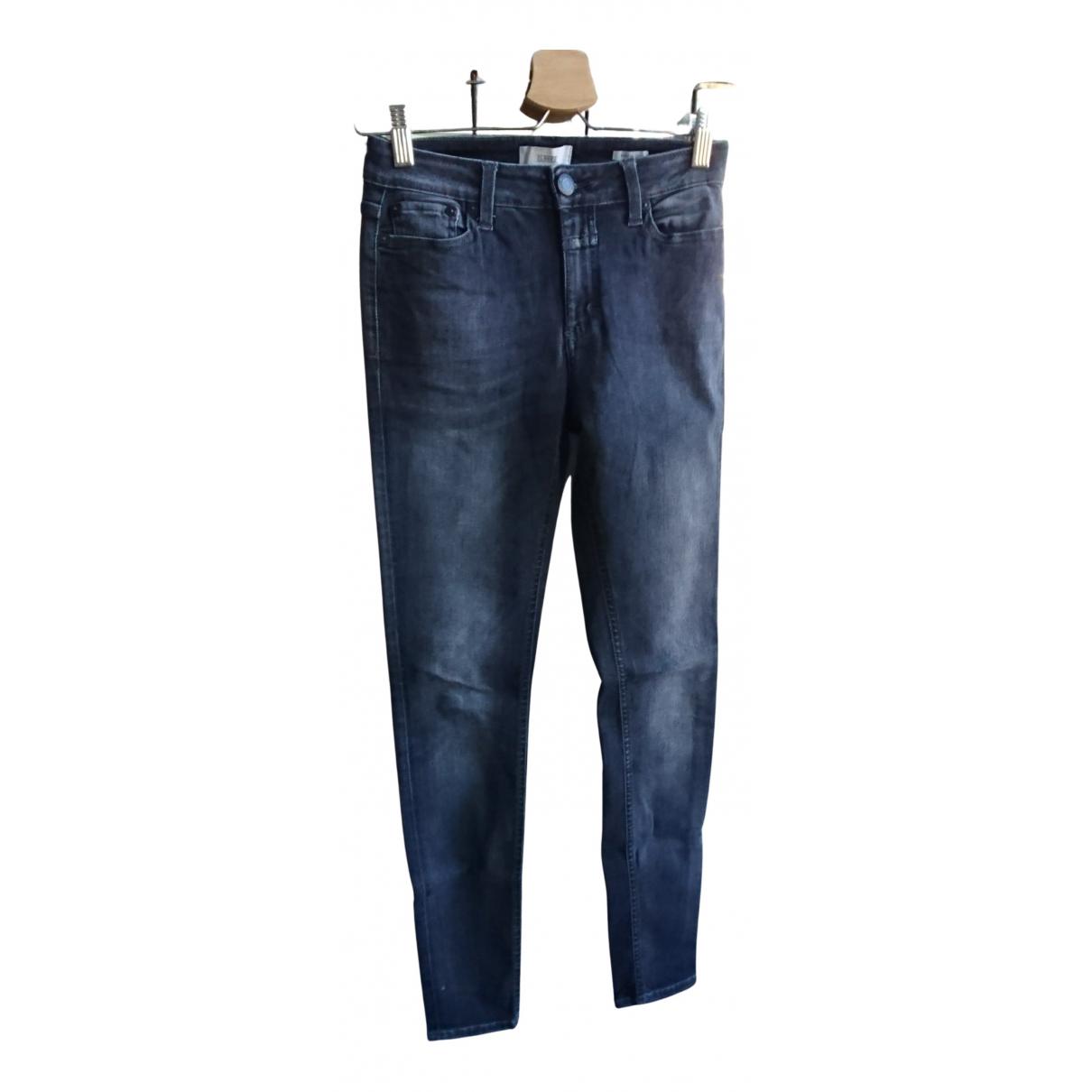 Closed - Jean   pour femme en coton - elasthane - gris