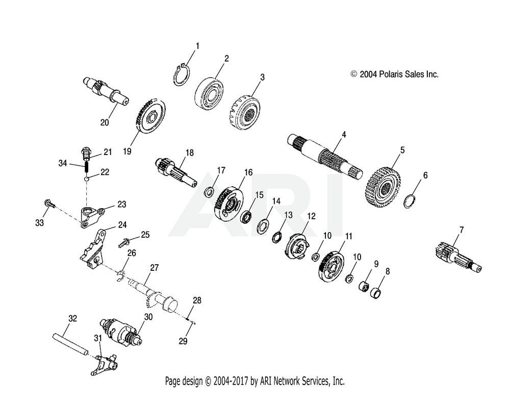 Polaris OEM 0452523 Shaft, Transmission