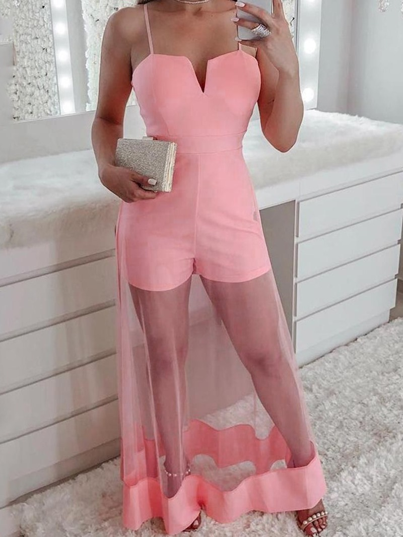 Ericdress Patchwork Sexy Dressy Slim Prom Jumpsuit