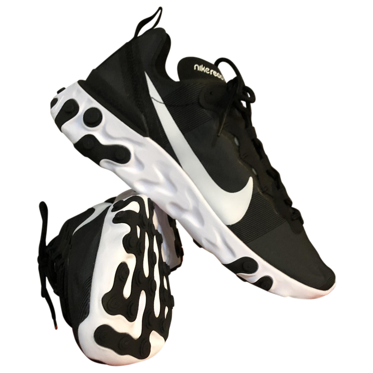 Nike React element 55 Sneakers in  Schwarz Leinen