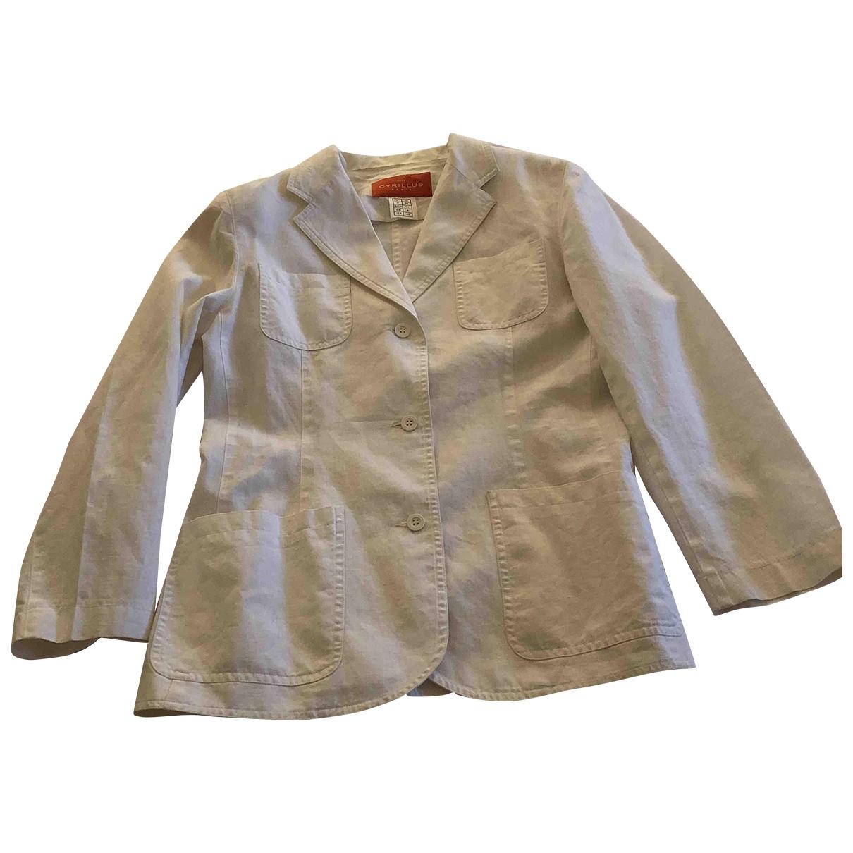 Cyrillus - Veste   pour femme en lin - blanc