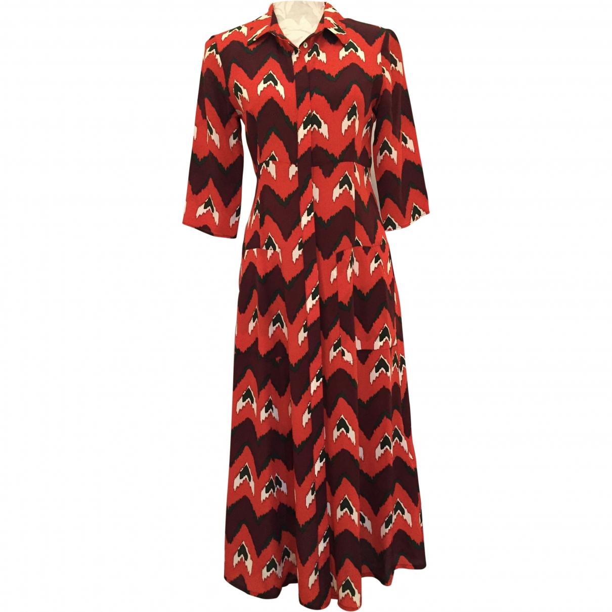 Ba&sh \N Red Silk dress for Women 38 FR
