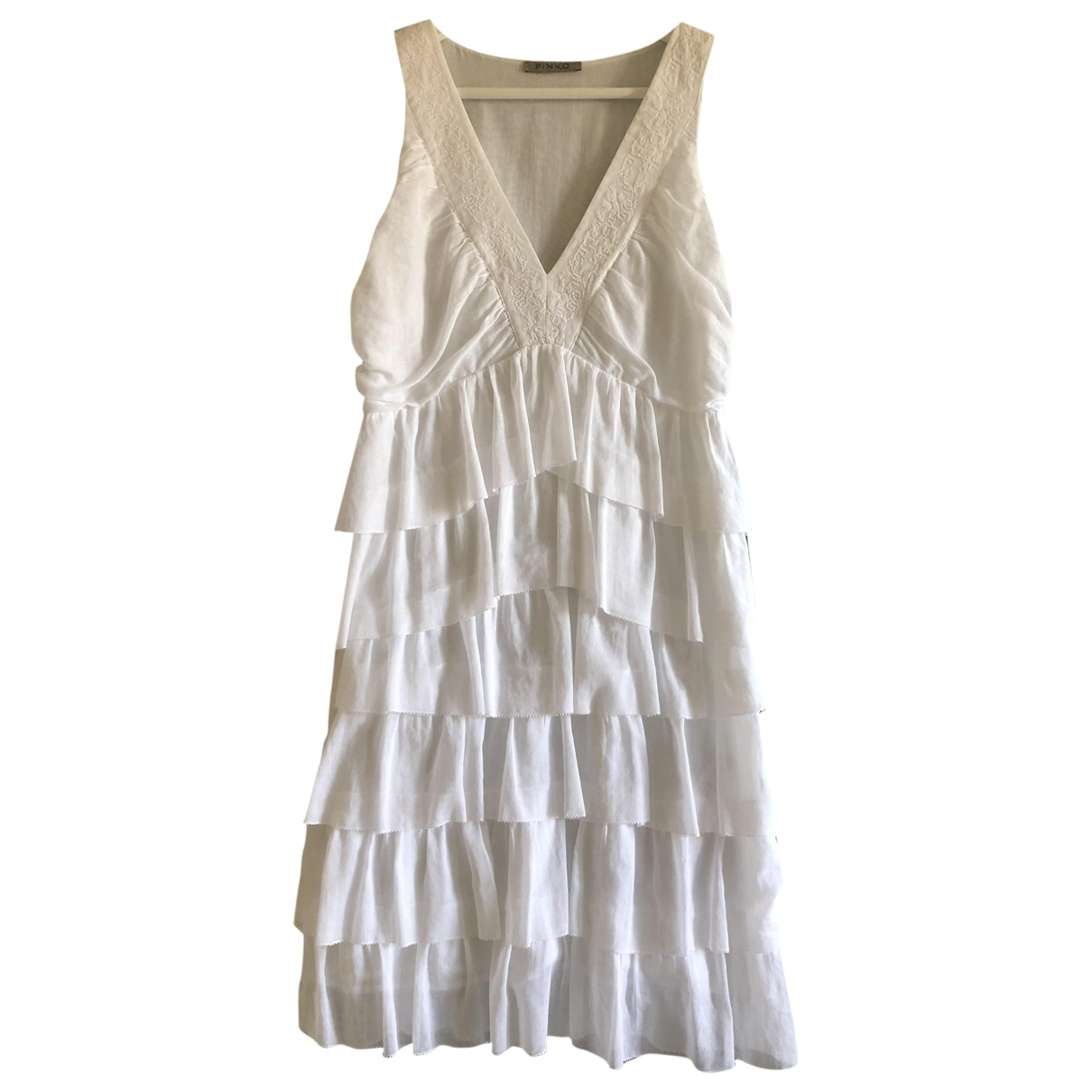 Pinko \N White Cotton dress for Women 44 IT