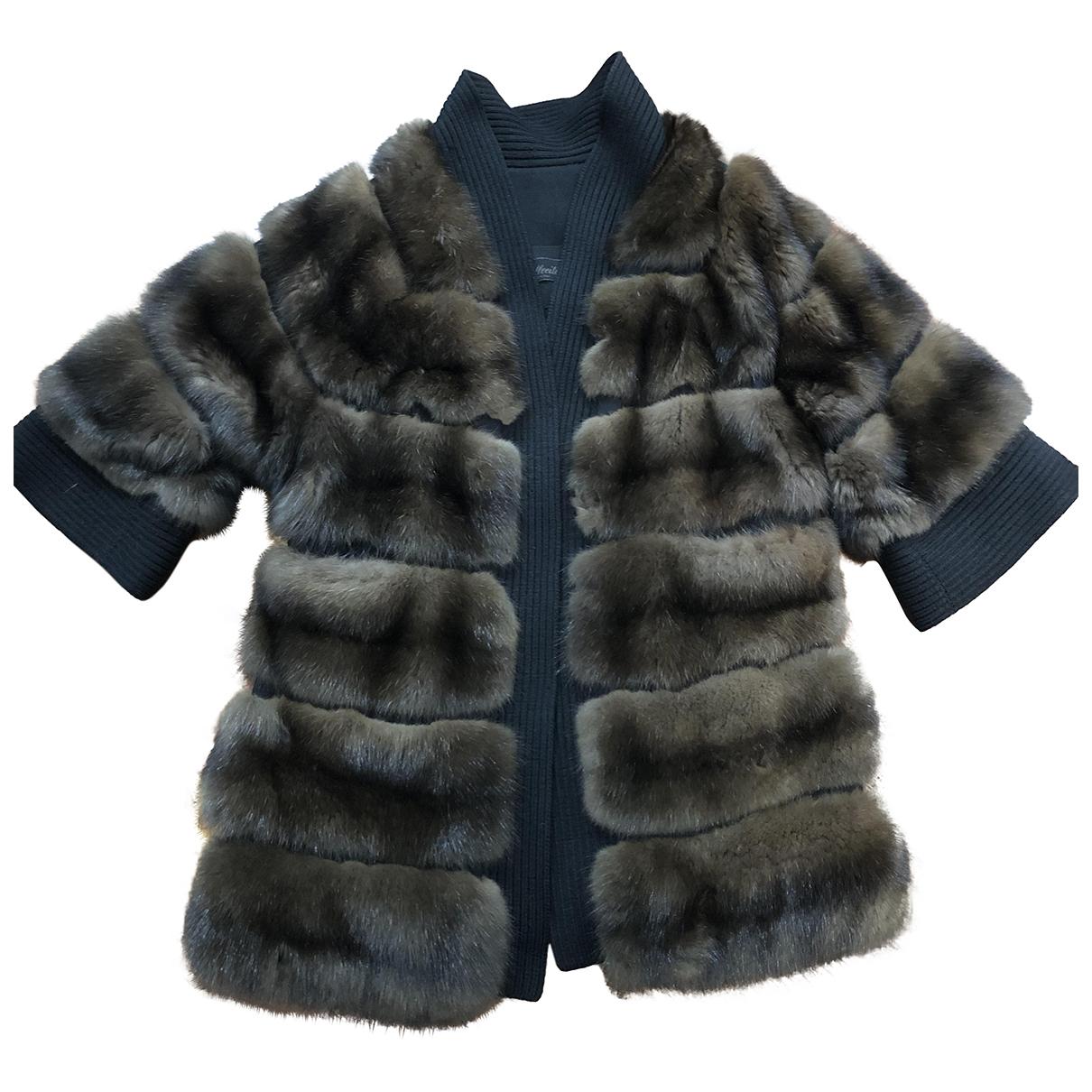 Solleciti - Manteau   pour femme en fourrure - marron