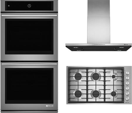 3 Piece Kitchen Appliance Package with JGC7636BS 36