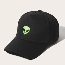 Maenner Baseballmuetze mit Alien Stickereien