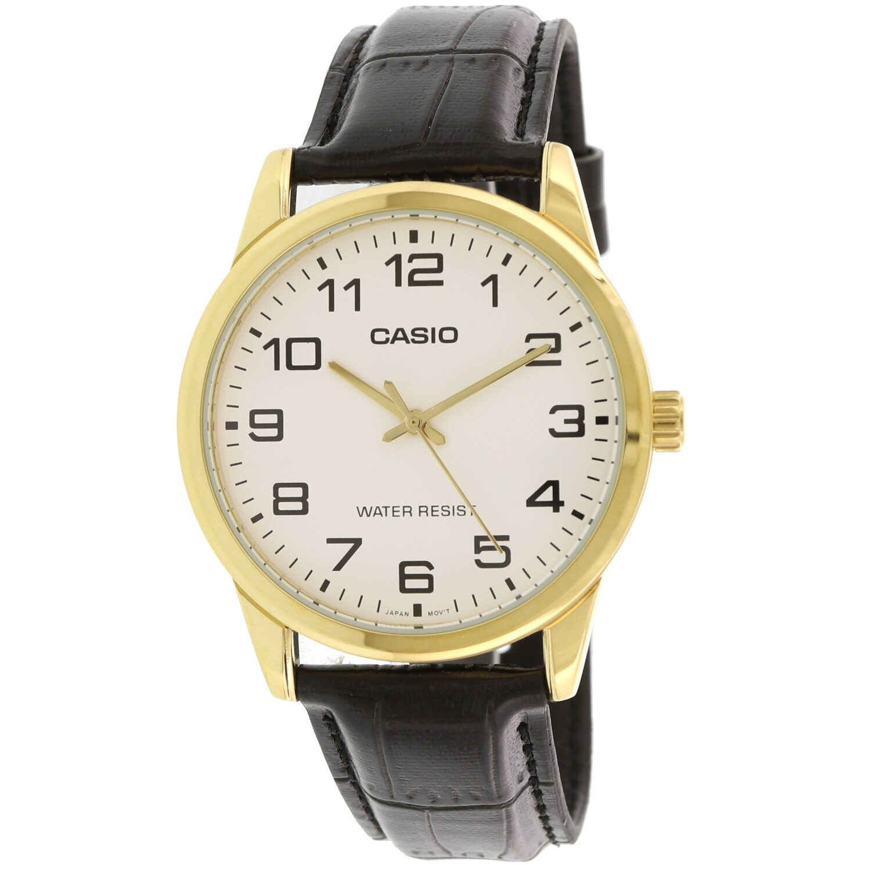 Casio Men's Enticer MTPV001GL-7B Black Leather Japanese Quartz Dress Watch