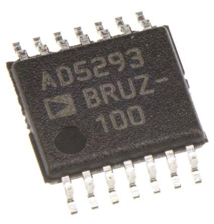 Analog Devices AD5293BRUZ-100, Digital Potentiometer 100kΩ 1024-Position Linear Serial-SPI 14 Pin, TSSOP