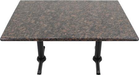 G215 30X42-B10-0522H 30x42 Tan Brown Granite Tabletop with 5