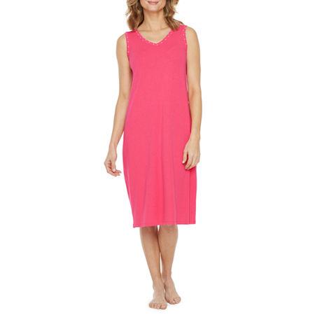 Liz Claiborne Sleeveless Womens 2-pc. Pajama + Robe Sets, Medium , Pink