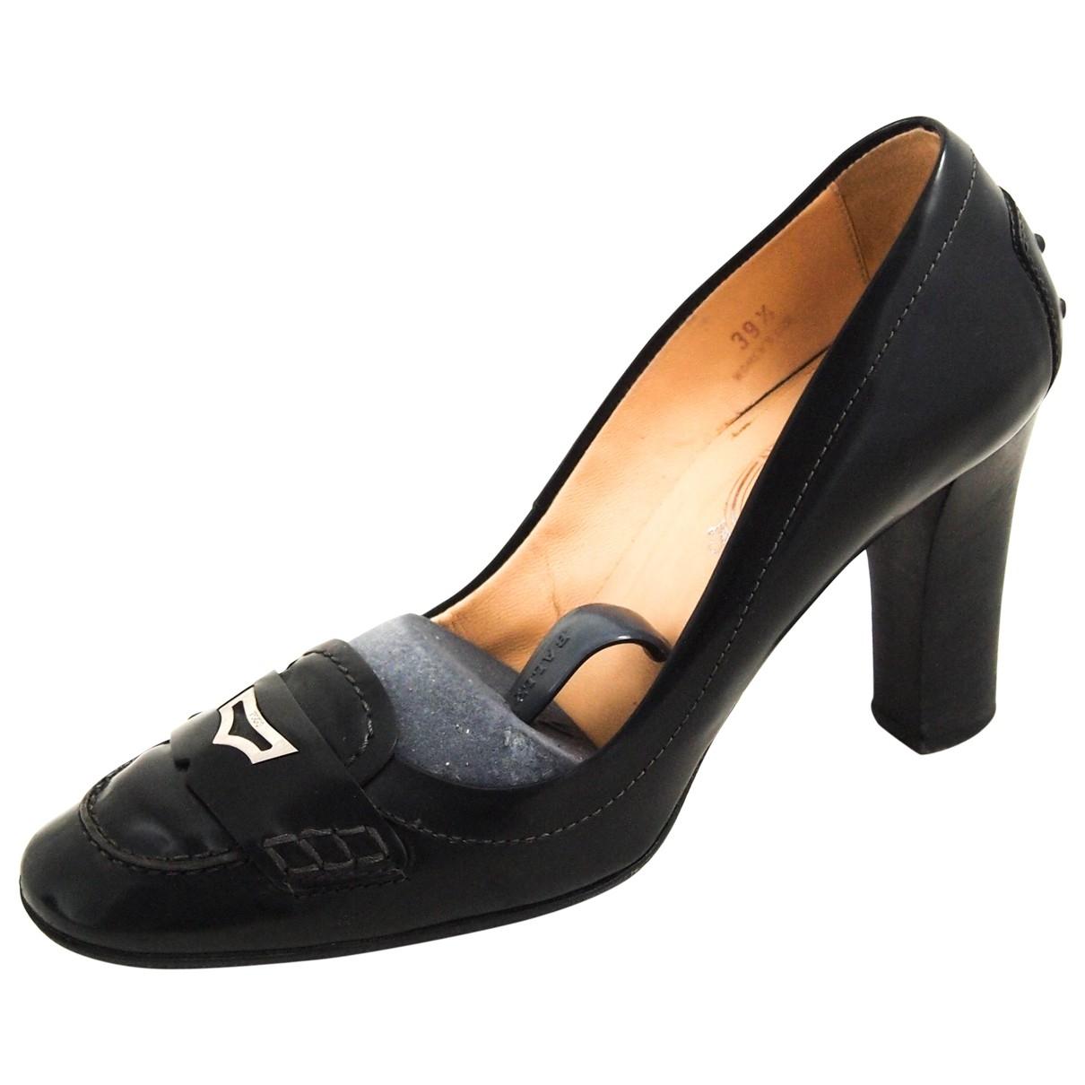 Tod's \N Black Leather Heels for Women 39.5 EU