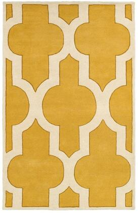 VOLVO8178002808RD Volare VO8178-8' x 8' Hand-Tufted 100% Wool Rug in Gold  Round