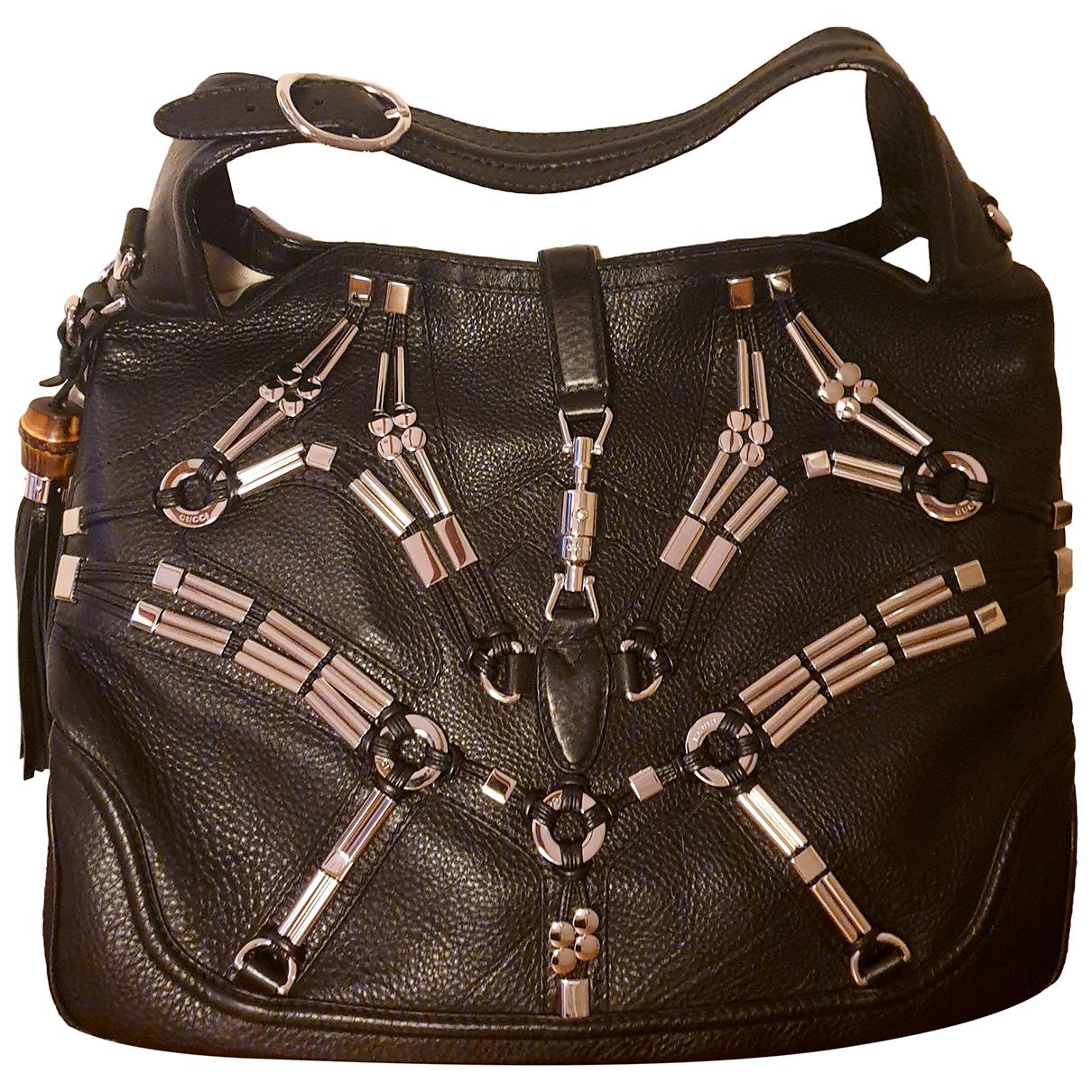 Gucci Jackie Black Leather handbag for Women N