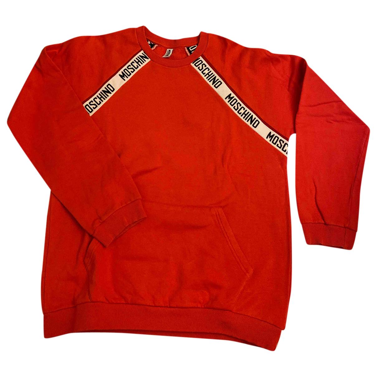 Moschino - Pull   pour femme en coton - rouge