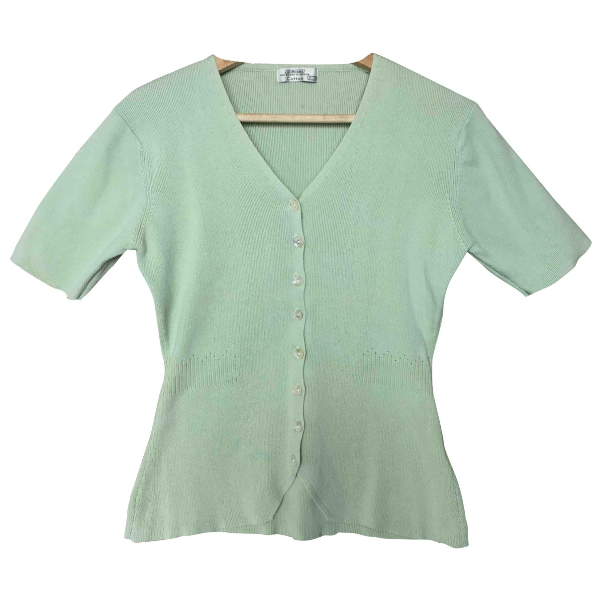 Non Signé / Unsigned \N Green Cotton  top for Women M International