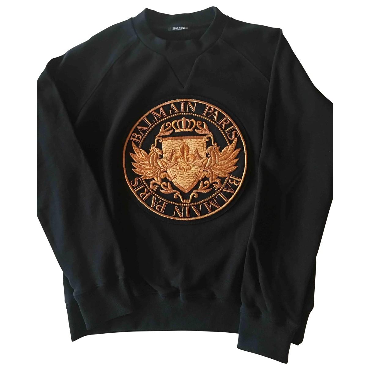 Balmain \N Black Cotton Knitwear & Sweatshirts for Men XL International