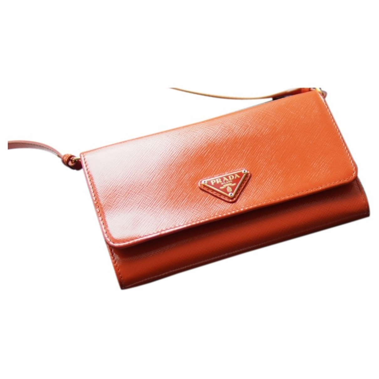 Prada \N Orange Leather Clutch bag for Women \N