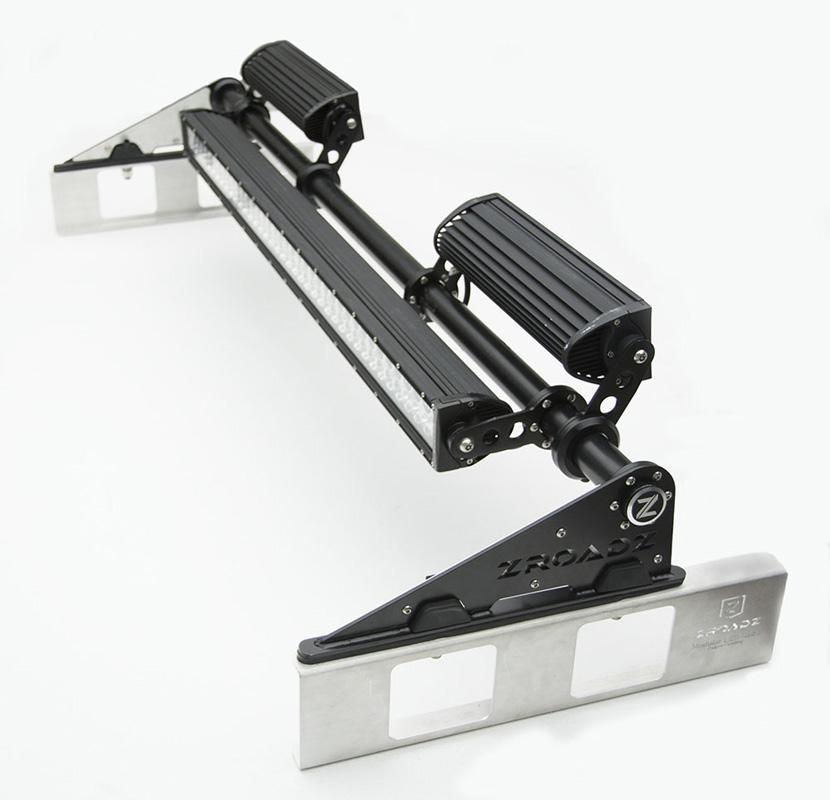 Modular Rack LED Kit Incl. (1) 40 Inch (2) 12 Inch Straight Double Row Light Bars PN Z350050-KIT-F