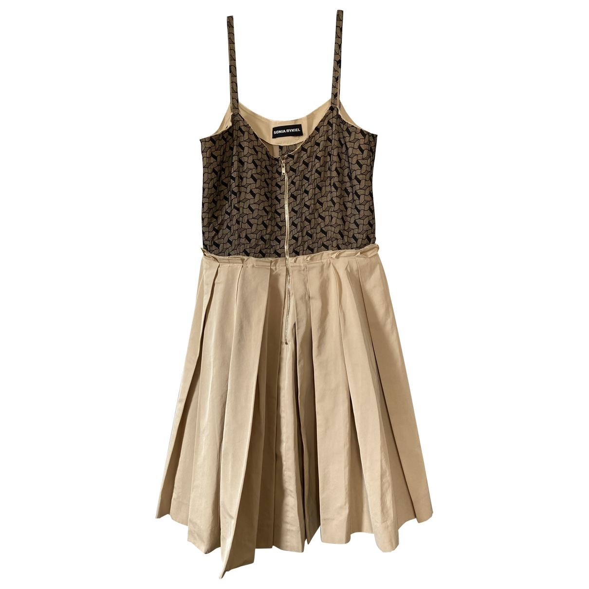 Sonia Rykiel \N Kleid in  Beige Polyester