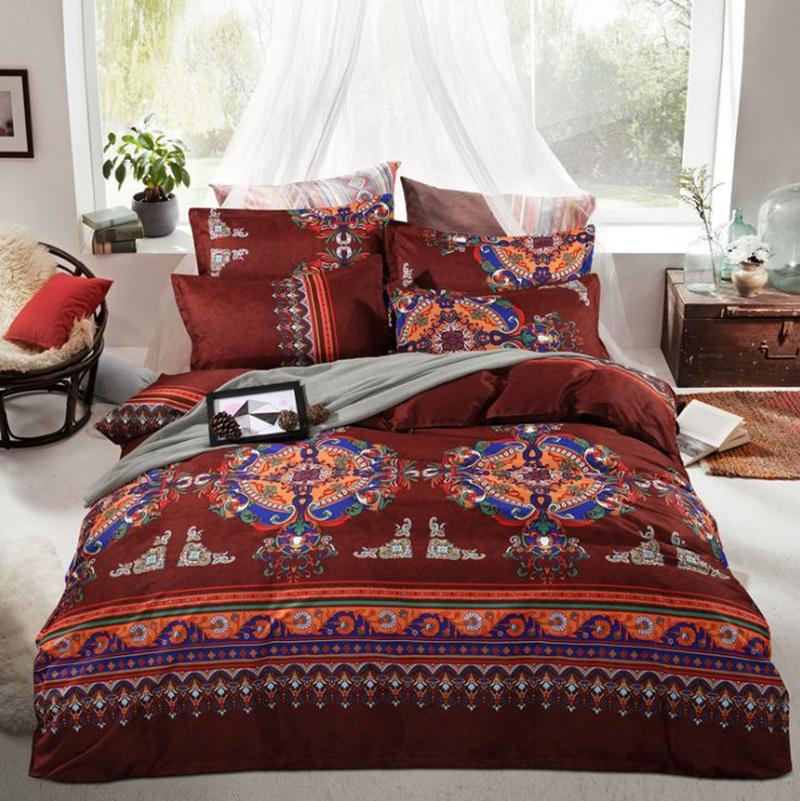 Bohemia Exotic Patterns Print Polyester 4-Piece Bedding Sets