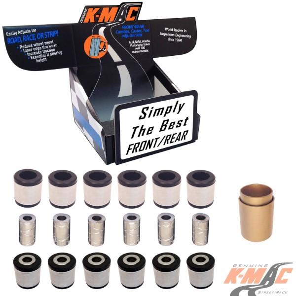 K-Mac Rear Bushing Kit Full Set Mercedes CL-Class W215 | S-Class W220/W221/W222 00-18