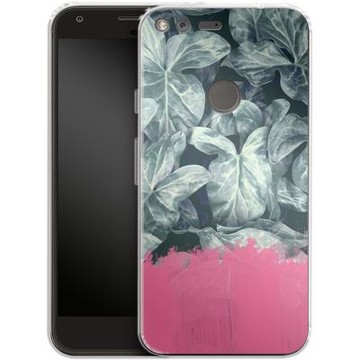 Google Pixel Silikon Handyhuelle - Sweet Pink on Jungle von Emanuela Carratoni