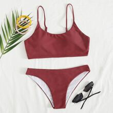Adjustable Strap Cheeky Bikini Swimsuit