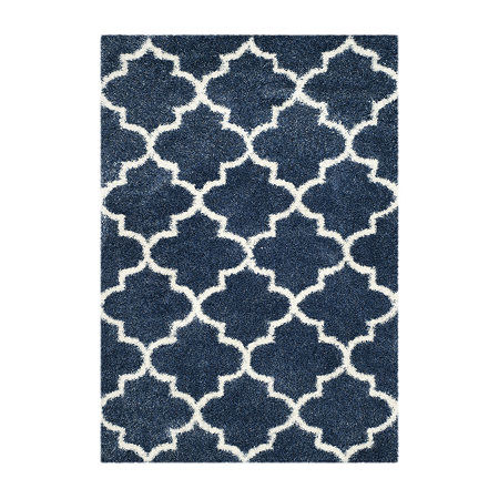 Safavieh Montreal Shag Collection Shelby Geometric Area Rug, One Size , Multiple Colors