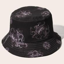 Guys Chinese Dragon Bucket Hat
