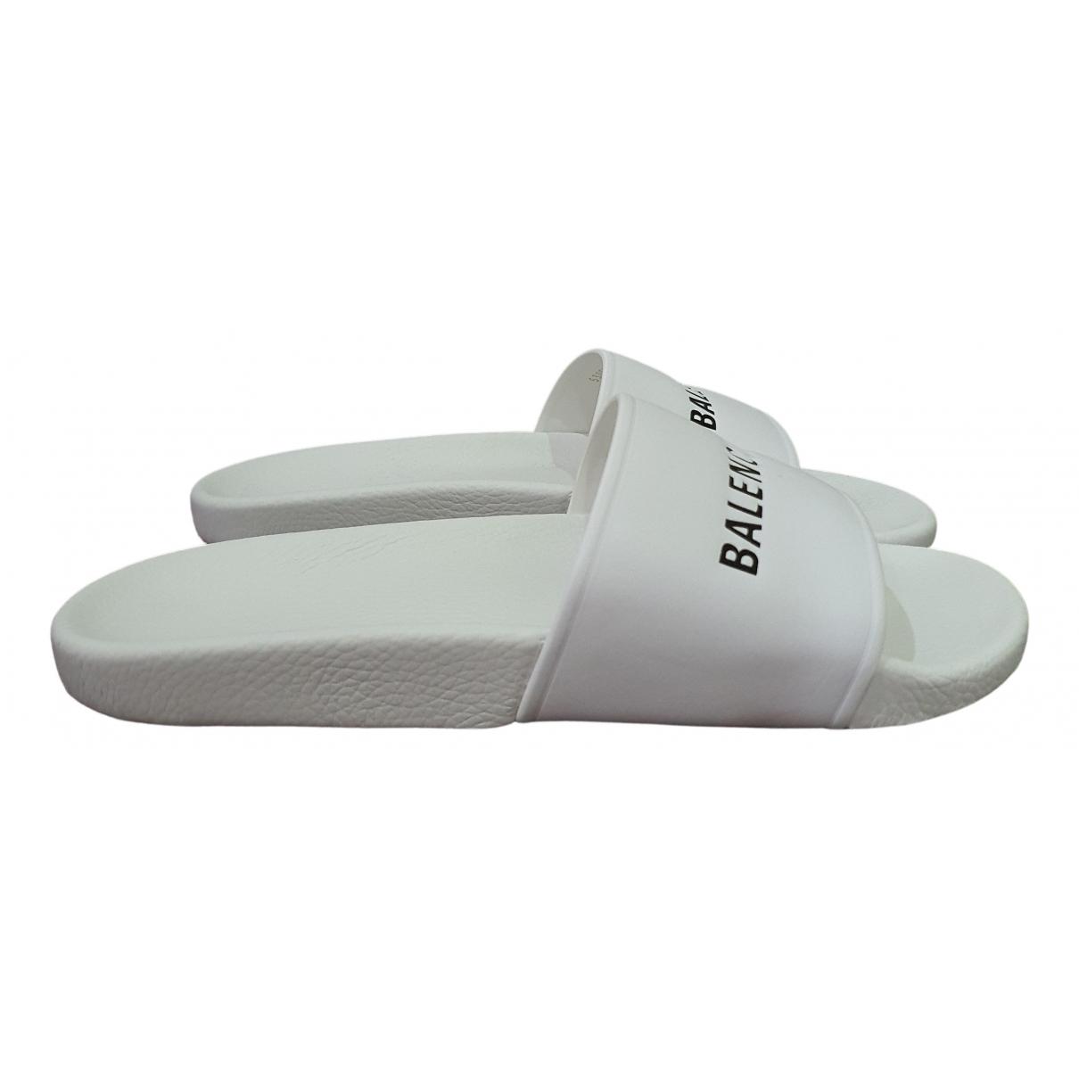 Balenciaga - Sandales   pour homme en cuir - blanc
